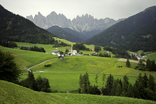 Dolomites And Pastoral View